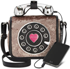 Betsey Johnson Velvet Snake Phone Mini Crossbody, A Macy's Exclusive Style