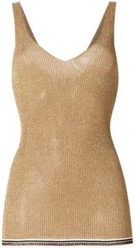 Forte Forte glitter-effect fitted top