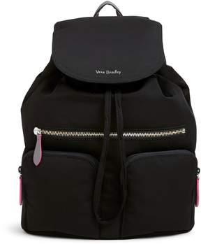 Vera Bradley Midtown Cargo Backpack - PREPPY POLY BLACK - STYLE