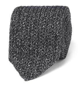 Ermenegildo Zegna 6cm Mélange Knitted Silk And Wool-Blend Tie