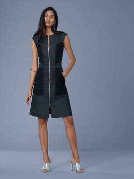 Diane von Furstenberg Sleeveless Tailored Zip Front Dress