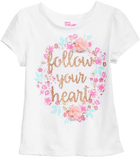 Epic Threads Little Girls Follow Your Heart T-Shirt, Created for Macy's
