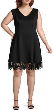 Donna Ricco Sleeveless Fit & Flare Dress - Plus