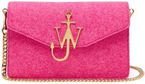 J.W.Anderson Felt and leather logo shoulder bag