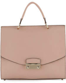Furla Julia Medium Leather Top Handle Bag - Golden Hardware