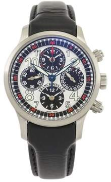 Franck Muller Master Banker Stainless Steel Silver Dial Automatic Chronograph 40mm Mens Watch