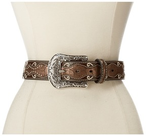 Ariat Patent Inlay Cross Concho Belt Women's Belts