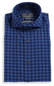 Black & Brown Black Brown Slim-Fit Check Cotton Dress Shirt