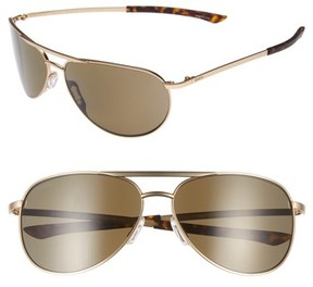Smith Women's Serpico Slim 2.0 60Mm Chromapop Polarized Aviator Sunglasses - Gold/ Brown Polar