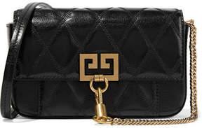 Givenchy Pocket Mini Quilted Leather Shoulder Bag - Black