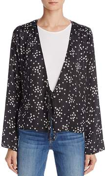 Cotton Candy Star Print Tie-Front Top
