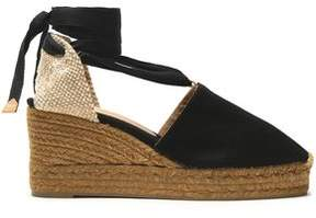 Castaner Woven And Canvas Wedge Espadrilles