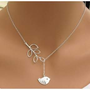 Alpha A A 18 New Silver Tone Plated Birdy Necklace Womens Fashion