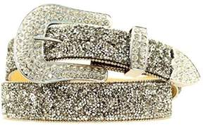 Ariat A1510801-S 1.5 in. Womens Crystal Chip Belt Crystal, Black - Small