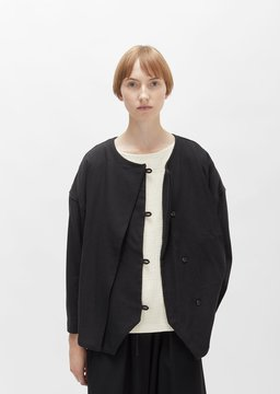 Black Crane Cotton Jacket Black Size: Small
