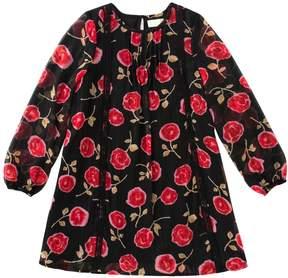 Kate Spade Metallic Rose Chiffon Dress