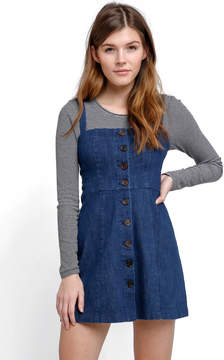 Capulet Bare Button Front Denim Mini Dress