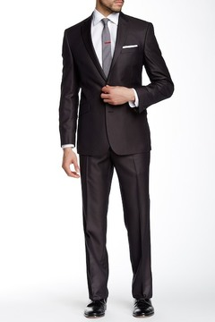 Kenneth Cole Reaction Woven Two Button Notch Lapel Suit