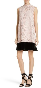 N°21 Women's N?21 Lace & Velvet Shift Dress