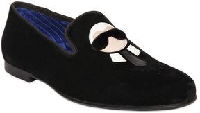 Karl Patches Velvet & Mink Loafers