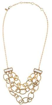 Alexis Bittar Crystal & Chain Link Necklace