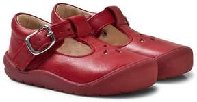 Start Rite Start-rite Red and Silver Leather Evy First Steps Shoes