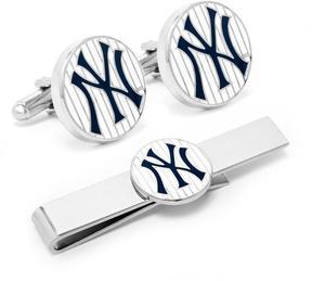 Ice Yankees Pinstripe Cufflink and Tie Bar Gift Set
