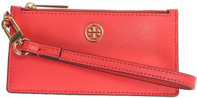 Tory Burch Leather Zip Up Wallet - PINK - STYLE