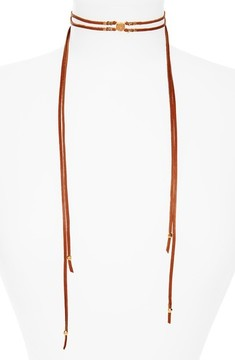 Chan Luu Women's Double Strand Leather Wrap Necklace