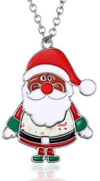 Alpha A Christmas Silver Tone Santa Clause Adjustable Necklace