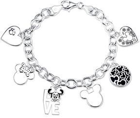 Disney Sterling Silver Mouse Charm Bracelet