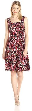 Kasper 10569410 Sleeveless Floral Jersey Dress