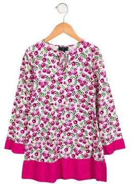 Oscar de la Renta Girls' Floral A-Line Dress