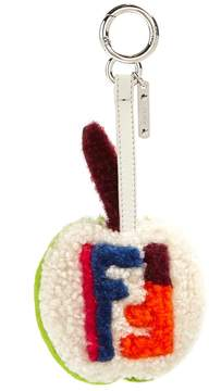 Fendi Apple shearling bag charm