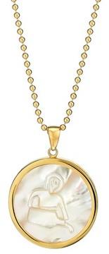 Asha Women's Zodiac Mother-Of-Pearl Pendant Necklace