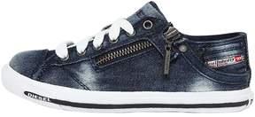 Diesel Vintage Effect Denim Sneakers
