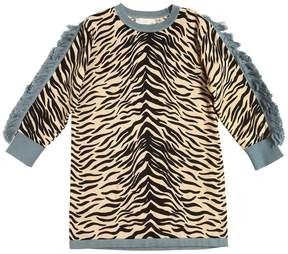 Stella McCartney Zebra Organic Cotton & Wool Knit Dress