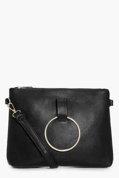 boohoo Nina Loop Ring Detail Cross Body Bag