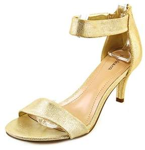 Style&Co. Style & Co Paycee Women Open Toe Synthetic Gold Sandals.