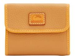 Dooney & Bourke Patterson Leather Small Flap Credit Card Wallet - FAWN - STYLE