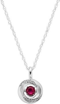 Brilliance+ Brilliance In Motion Brilliance in Motion Ruby & Diamond Accent Knot Pendant