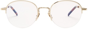 SAINT LAURENT Oval-frame metal glasses