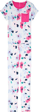 Joules Pink Floral and Blue Stripe Pocket Jumpsuit