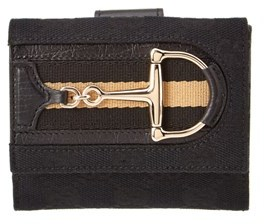 Gucci Black Canvas D Ring Wallet. - BLACK - STYLE
