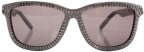 Alexander Wang linda farrow x  Grey Zipper Motif Sunglasses
