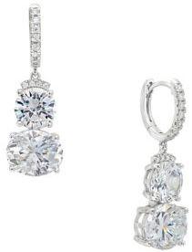 Crislu Sterling Silver Luster Linear Drop Earrings