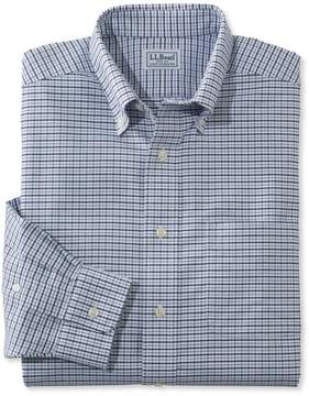 L.L. Bean L.L.Bean Wrinkle-Free Classic Oxford Cloth Shirt, Traditional Fit Tattersall