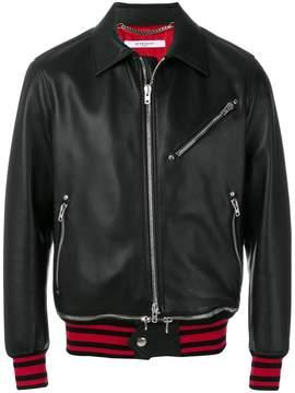 Givenchy striped trim bomber jacket