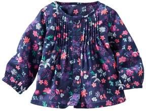 Osh Kosh Baby Girl Print Pintuck Shirt