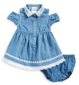 Nannette Baby Girl's Two-Piece Crochet-Trim Dress & Bloomers Set
